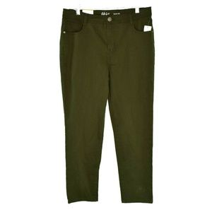 Style & Co 12P Evening Olive Jeans 9AT53